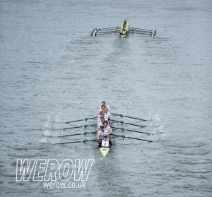 Leander A chasing Oxford Brookes University A on their way to a dead heat